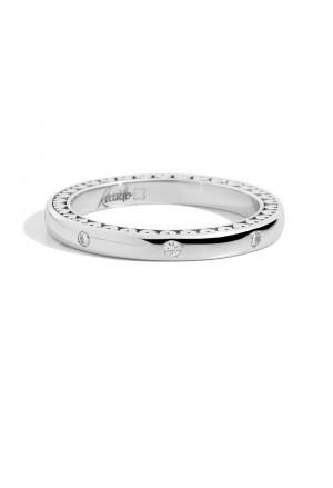 Fede Nuziale Recarlo Anniversary Oro 18kt Cuori 8 Diamanti Matrimonio Wedding W14FD005/B012