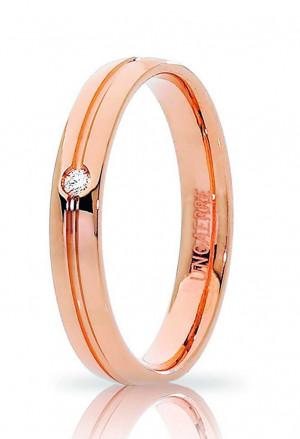 Fedina Unoaerre Modello Lyra Misura 15 Oro 18kt Diamante Naturale Concessionario Ufficiale 34 AFC 289/001
