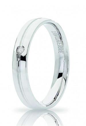 Fedina Unoaerre Modello Lyra Misura 13 Oro Bianco 18kt Diamante Naturale Concessionario Ufficiale 34 AFC 289/001B