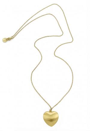 Collana Aquaforte Chanel Donna Cuore Satinato Argento Gold SUO6QFM