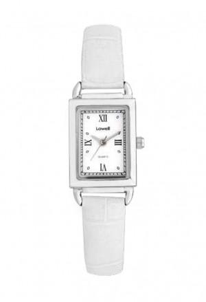 Orologio Lowell Donna Rettangolare Numeri Romani Cinturino Bianco Stampa Cocco PL5194-012