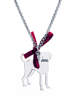 Collana Charm Cane Meticcio Piccolo Argento 925% Dog Happy Pets Enpa Unoaerre 9EZ87FM
