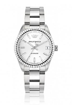 Orologio Philip Watch Automatico Unisex Caribe Solo Tempo Datario Quadrante Silver R8223597501