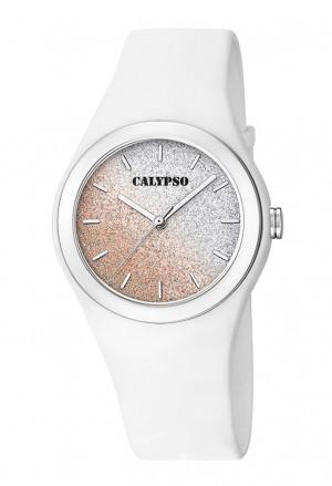 Orologio Calypso Lady Quadrante Glitter Cinturino Bianco K5754/1