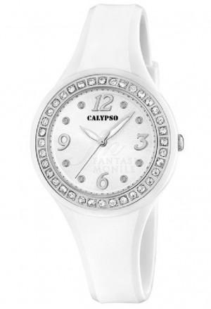 Orologio Calypso Donna Bianco Swarovski K5567/A