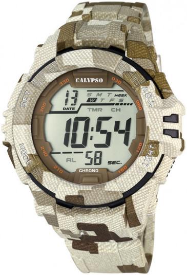 Orologio Calypso Uomo Digitale Impermeabile 10ATM Camouflage Sabbia K5681/2