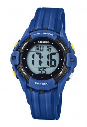 Orologio Calypso Kids Digitale Impermeabile 10ATM Blu Gomma K5740/4