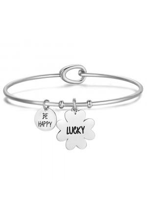 Bracciale Luca Barra Acciaio Lucky BK1726