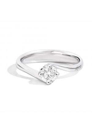 Anello Valentin Donna Solitario Fidanzamento Diamante Naturale Oro 18kt Modello Anniversary Recarlo R01SO195/014-13
