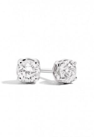 Orecchini Recarlo Punto Luce Diamanti Naturali Oro Bianco 18kt Modello Anniversary E01PX730/018