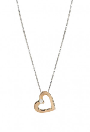 Collana Demetra Donna Cuore Rosa Oro 18kt Diamanti 030.099.012