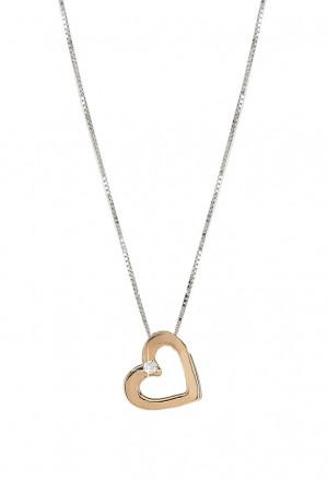 Collana Punto Luce Cuore Oro Rosa 18kt Diamante Naturale Demetra 030.099.013