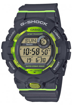 Orologio Casio G-Shock Digitale Bluetooth Smart Illuminazione Smartphone Time Antiurto Grigio Fluo GBD-800-8ER
