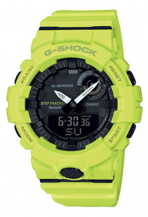 Orologio Casio G-Shock Digitale Bluetooth Smart Illuminazione Smartphone Time Antiurto Giallo Fluo GBA-800-9AER