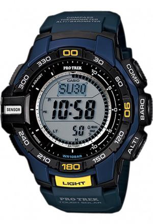 Orologio Casio Pro Trek Digitale Cronometro Barometro Termometro Bussola Blu PRG-270-2ER