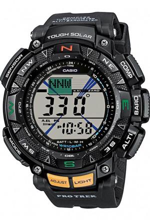 Orologio Casio Pro Trek Digitale Cronometro Barometro Termometro Bussola Auto Illuminazione PRG-240-1ER