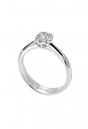 Anello Donna Solitario Diamante Naturale Oro 18kt Modello Anniversary Recarlo R01SO730/019-14