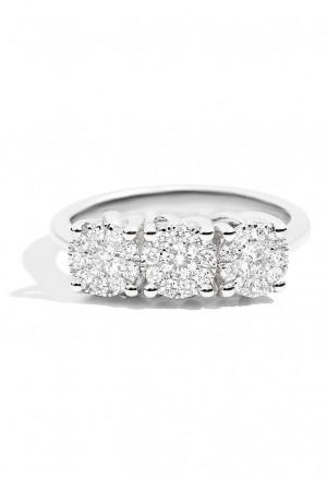 Anello Recarlo Trilogy 3 Pietre Modello Shinig Diamanti Naturali Oro 18kt Donna R04TY252/020-14