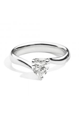 Anello Recarlo Solitario Valentin Cuore Modello Anniversary Love Diamante Naturale Oro 18kt Donna R67SO001/030-15