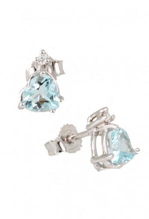 Orecchini Acquamarina Oro 18kt Diamanti Naturali Demetra 028.289.C04