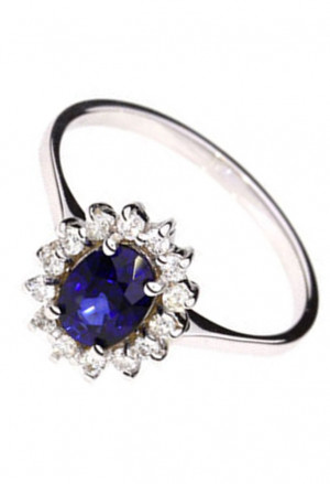 Anello Demetra Donna Zaffiro Oro 18kt Diamanti 119.091.Z21