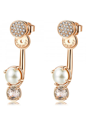 Orecchini Brosway Affinity Cristalli Swarovski Colorati Perle Ottone Rosa BFF75