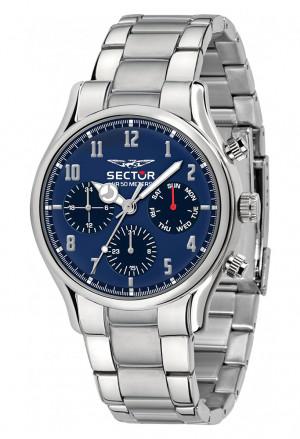 Orologio Sector Uomo Modello 660 Multifunzione Quadrante Blu Acciaio Silver R3253517007