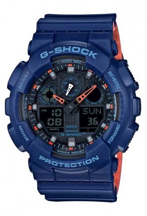 Orologio Casio G-Shock Blu Arancione Uomo GA-100L-2AER