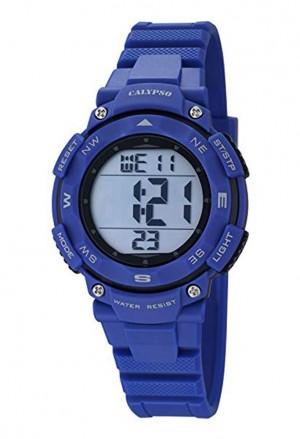 Orologio Calypso Digitale Dual Time Illuminazione Cronometro Allarme Resistente 10ATM Colore Blu K5669/6
