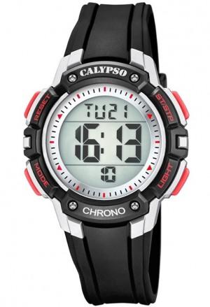 Orologio Calypso Kids Digitale Impermeabile 10ATM Nero Gomma K5739/4