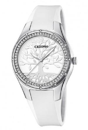 Orologio Calypso Albero Vita Donna Bianco Silver K5721/A