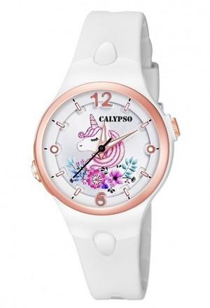 Orologio Calypso Bianco Rose Unicorno Arcobaleno K5783/1