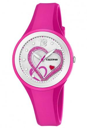Orologio Calypso Cuore Lady Sportivo Rosa Fuxia Gomma K5751/3