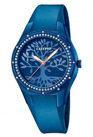 Orologio Calypso Albero Della Vita Cristalli Cinturino Blu Donna K5721/F