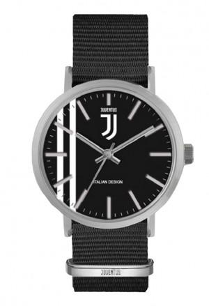 Orologio Juventus Prodotto Ufficiale Cinturino Nylon Nero Juve Squadra Calcio Lowell P-JA415XN4