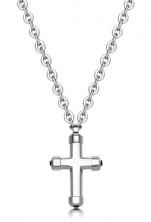 Collana Brosway Collezione Crux Acciaio Cristalli Swarovski Gioielli Man BRX02
