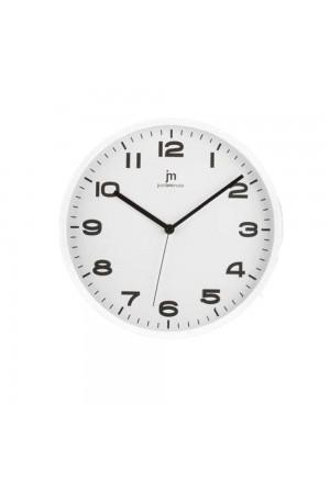 Orologio Da Parete Muro Movimento Continuo Silenzioso Cassa Abs Colore Bianco Diametro 29 Cm Lowell 00875-CF A
