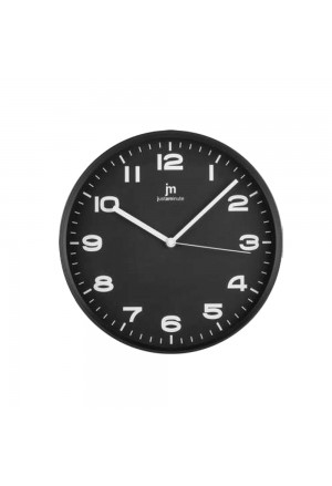 Orologio Da Parete Muro Movimento Continuo Silenzioso Cassa Abs Colore Nero Diametro 29 Cm Lowell 00875-CF B