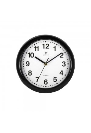 Orologio Da Parete Muro Movimento Continuo Silenzioso Cassa Abs Colore Nero Diametro 25 Cm Lowell 00710-CF B