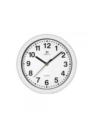 Orologio Da Parete Muro Movimento Continuo Silenzioso Cassa Abs Colore Bianco Diametro 25 Cm Lowell 00710-CF A