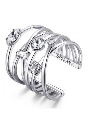 Anello Brosway Affinity Silver Cristalli BFF124B