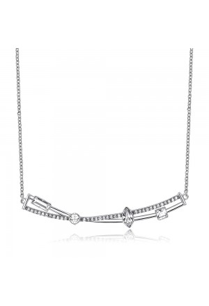 Collana Brosway Affinity Silver Cristalli BFF106