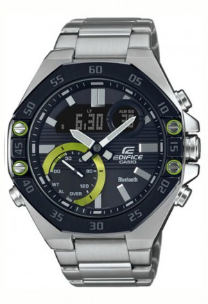 Orologio Casio Edifice Uomo Quadrante Nero Bluetooth ECB-10DB-1AEF