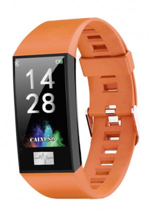 Orologio Calypso Smart Watch Sport Cardio App Usb Cinturino Arancione K8500/3