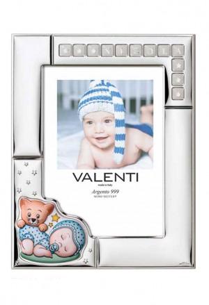 Cornice Valenti Bimbo Con Adesivi Lettere Argento Laminato 73124/4C