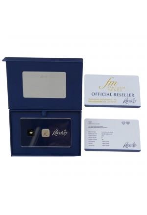 Diamante Recarlo Taglio Cuore Caratura 0.14 New Colore F Purezza VS Certificato Investimento E30S6FM