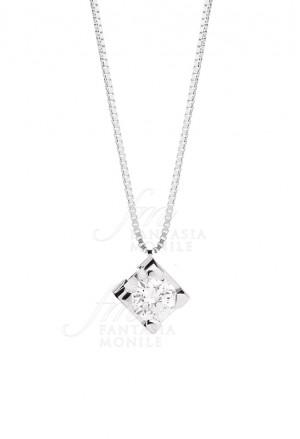 Collana Donna Punto Luce Diamante Naturale Oro 18kt Modello Maria Teresa Recarlo P30PX350/015