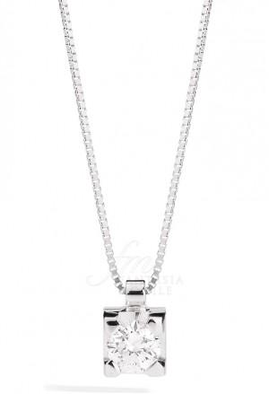 Collana Donna Punto Luce Diamante Naturale Oro 18kt Modello Maria Teresa Recarlo P30PX265/008-45