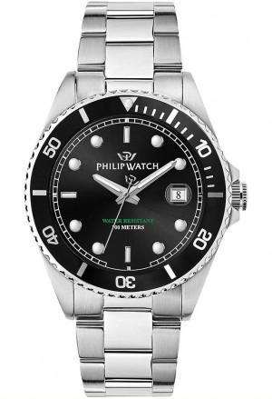 Orologio Philip Watch Uomo Caribe Datario Sub Quadrante Nero R8253597046
