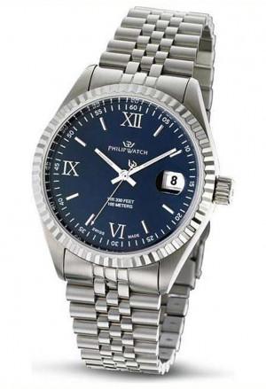 Orologio Philip Watch Uomo Caribe Quadrante Blu Scuro Cinturino Jubilee R8253597062